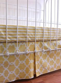 Custom Center Pleat Crib Skirt  in Your Choice by FernLeslieBaby, $105.00