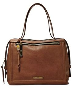 Fossil Bella Leather Large Satchel | macys.com