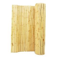 Backyard X-Scapes 1 in. Natural Rolled Bamboo Fence