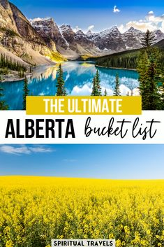 An absolutely epic Alberta bucket list, including 45 MUST things to do in Alberta, Canada. Written by a local Alberta, the article covers everything from the Rocky Mountains to the Great Prairies. Cool Places To Visit, Places To Travel, Places To Go, Bucket List Destinations, Travel Destinations, Quebec, Montreal, Alberta Canada, Tips
