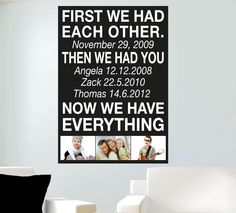 Wholesale Printers,  - First We Had Each Other Wall Sticker Quote - Totally Movable, $12.99 (http://www.wholesaleprinters.com.au/first-we-had-each-other-wall-sticker-quote-totally-movable)