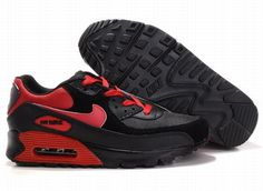 Ken Griffey Shoes Nike Air Max 90 Black Varsity Red [Nike Air Max 90 - Noticeable varsity red branding, laces, ankle area, Nike swooshes and heel with visible Max Air unit let the Nike Air Max 90 Black Varsity Red kicks become particular and pretty. Nike Air Max 90s, Cheap Nike Air Max, Nike Shoes Cheap, Mens Nike Air, Cheap Air, Red Air Max, Air Max 1 Black, Baskets Jordan, Smith Adidas