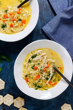 Chicken Cauliflower Rice Soup (Whole 30) ~ http://www.healthy-delicious.com