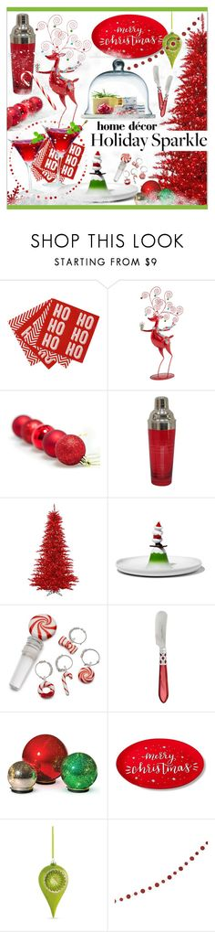 """""""Deck The Halls * For Your Holiday Party II"""" by calamity-jane-always ❤ liked on Polyvore featuring interior, interiors, interior design, home, home decor, interior decorating, North Pole Trading Co., Alessi, Improvements and Threshold"""
