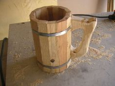 How to make a wooden beer mug