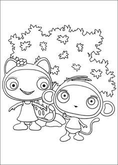 Waybuloo Fargelegging for barn. Tegninger for utskrift og fargelegging nº 22