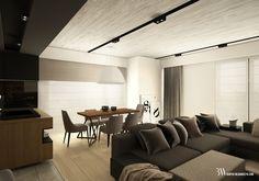 Jadalnia z widokiem na drewniany stół i lampę sufitową Axobell