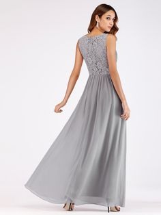 a4f3cd57e2ac V Neck Ruched Bust Long Evening Dress