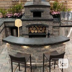 If you are looking for Outdoor Kitchen Counter, You come to the right place. Here are the Outdoor Kitchen Counter. This post about Outdoor Kitchen Counter was po. Small Outdoor Kitchens, Outdoor Kitchen Patio, Pizza Oven Outdoor, Outdoor Kitchen Design, Outdoor Rooms, Outdoor Living, Brick Oven Outdoor, Outdoor Kitchen Countertops, Backyard Fireplace