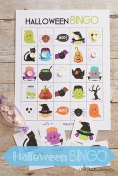 Juego Bingo imprimible Halloween