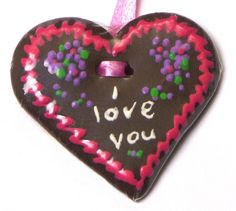 Miniature Gingerbread Heart I love you von DinkyWorld auf Etsy