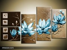 cuadros PINTADOS A MANO de galeriamaster Canvas Designs, Wall Art Designs, Flower Canvas, Flower Art, Deco Paint, Stuck, Wall Art Pictures, Home And Deco, Easy Paintings