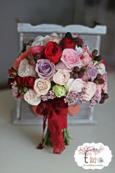 autumnal elegant bouquet