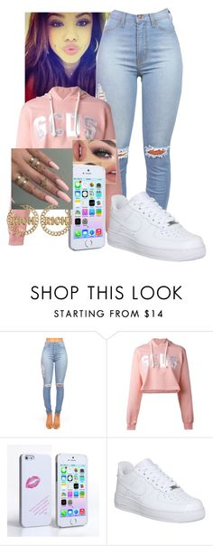 """Untitled #107"" by arii-bankss ❤ liked on Polyvore featuring GCDS and NIKE"