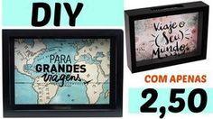 DIY:QUADRO COM APENAS 2,50(QUADRO-COFRE) EMILY SANTIAGO
