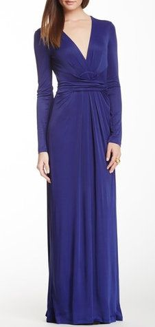 BCBG Pearl Wrap Maxi Dress