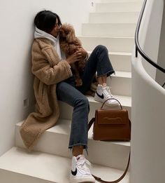 Nike Blazers Outfit, Blazer Outfits, Fall Winter Outfits, Autumn Winter Fashion, Look Fashion, Fashion Outfits, Jugend Mode Outfits, Looks Pinterest, Look Blazer