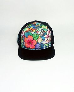 Island Style Aloha Trucker Hat by Colleen Wilcox Painted Hats d883da45adc2