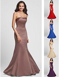 Vestido de Dama de Honor - Rojo/Azul Real/Marrón/Champaña/Pú... – USD $ 64.99
