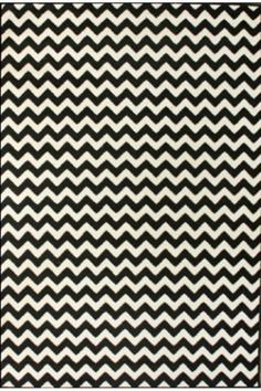 """black and white Chevron Rug 5'3"""" x 7'9"""" only $69"""