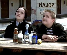 Christina Ricci and Jimmy Workman in The Addams Family Addams Family 3, Addams Family Members, 1990s Films, The Moon Is Beautiful, Family Research, The Munsters, Wednesday Addams, Christina Ricci, Education Humor