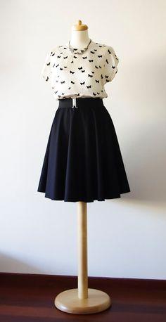 Full circle wool skirt, winter skirt.. $87.00, via Etsy.