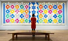 Large Decoration With Masks, 1953 by Henri Matisse at Tate Modern: 'the spirit rises with each new vision'.