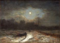 George Inness, Winter Moonlight (Christmas Eve), 1866, Montclair Art Museum