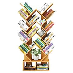 KoTag Century Modern Bookshelf Personality Creative Heart-Shaped Bookcase for Study Room - Walnut, White for Home Office Living Room Decor Books Display (Color : Walnut, Size : decorating book displays Modern Bookshelf, Bookshelves, Wooden Display Stand, Childrens Book Shelves, Toy Storage Solutions, Home Office Colors, Desktop Storage, Table Shelves, Wooden Tree
