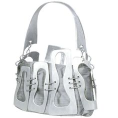 Unique handmade handbag made of metal and silk by Habjanic design. www.habjanicbags.com