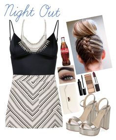 """""""Night Out"""" by nare-861 ❤ liked on Polyvore featuring T By Alexander Wang, MANGO, New Look, Boohoo, ALDO, Stila, Marc Jacobs and Rimmel"""