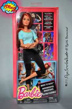 Barbie Made to Move RedHead #mattel #barbie #doll #dollcollector #dollcollection #vintage #madetomove #barbieredhead