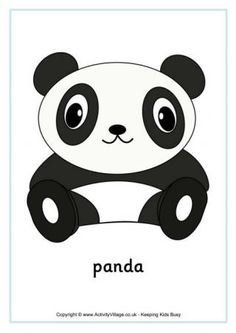 Activity Village offers this collection of panda printables - ready for a visit to the zoo, a theme on China, or just for some panda fun! Panda Coloring Pages, Colouring Pages, Panda Activities, White Playdough, Panda Craft, Activity Village, Lacing Cards, Panda Birthday, Panda Party