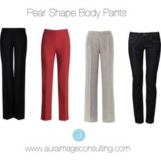 Pear body shape pants