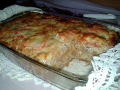 The divinely perfect stuffed peppers in any case have to create style :) Baked Rolls, Veggie Side Dishes, Hungarian Recipes, Meatloaf, Lasagna, Banana Bread, Bacon, Pork, Food And Drink
