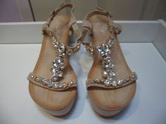 Womens Ladies Beige Diamante Mid Wedge Heel Shoes Sandals Size UK 4,5,6,7,8 New  Useful Info: - Standard Size - Standard Fit - By Juliet - Beige In Colour - Heel Height: 3 Inches - Platform: 1 Inch - Buckle Strap - Diamante Detail  - Faux Suede Upper #sandals #shoes #beige #wedge #wedges #summer #diamante #platform #T-bars #fashion #footwear #forsale #womens #ladies #ebay #ebayseller #ebayshop #ebaystore