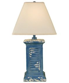 Look what I found on #zulily! Blue Square Shutter Table Lamp #zulilyfinds
