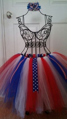 Red white blue tutu for the 4th of july  made by just another hobbie