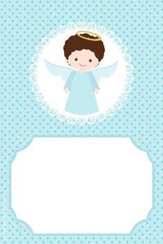 Resultado de imagem para convite cha de bebe sache anjo para imprimir: