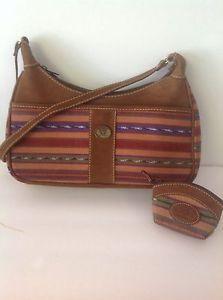 Guatemala Leather Cotton Bag with Coin Bag Multicolor Artisan Designer Fashion | eBay
