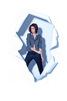 "Blazer-Jacke ""Bavaria"". Präsentiert von Marie Nasemann. #tracht #alpencouture Duster Coat, Polaroid Film, Couture, Jackets, Fashion, Alps, Down Jackets, Moda, Fashion Styles"