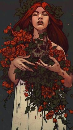 Maria Nguyen Illustration Poison Ivy by Maria Nguyen Tag Art, Dessin Old School, Arte Obscura, Illustration Art, Illustrations, Persephone, Pretty Art, Aesthetic Art, Art Inspo