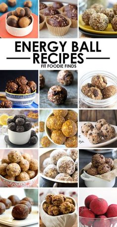 Healthy Energy Balls Recipes – Fit Foodie Finds Need a quick snack? Make energy balls at the beginning of the week and have a healthy option packed with nutrients and protein that's portable and delish! Healthy Sweets, Healthy Snacks, Healthy Protein, Healthy Recipes, Healthy Fit, Protein Foods, Healthy Options, Yummy Snacks, Healthy Eating