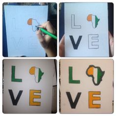 Love for africa crafting diy