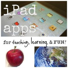 iPad apps: best apps for learning and fun for kids #digital literacy