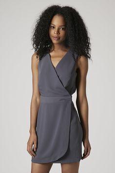 Sleeveless Wrap Shift Dress