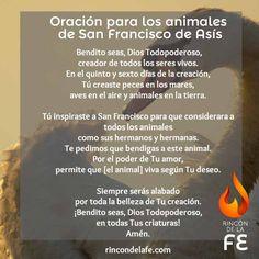 Oración por los animales de San Francisco de Asís