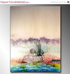 Abstract Art Huge Abstract Painting Original by newwaveartgallery, $500.00