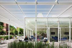 Brochstein Pavilion at Rice University Courtyard by Thomas Phifer