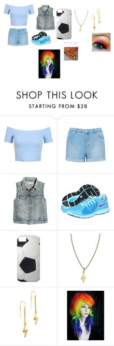 """rainbow dash"" by phoenix-fox ❤ liked on Polyvore featuring Miss Selfridge, Forever New, Madewell, NIKE, Twig, Marc by Marc Jacobs and My Little Pony"